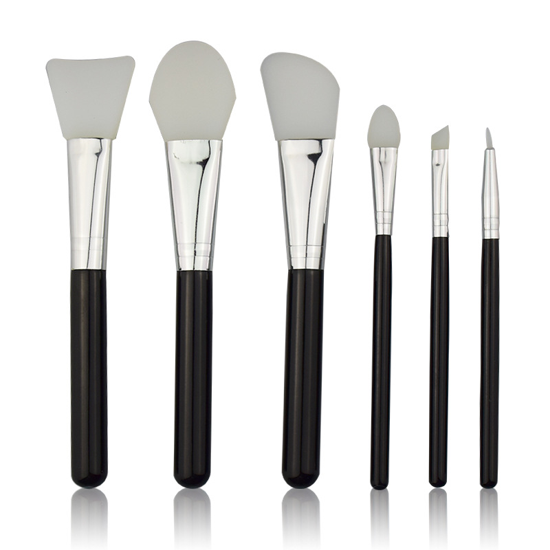 Makeup-Brush-Set Silicone-Head Facial-Face-Mask-Brush Cosmetic Eye-Makeup 6pcs Skin-Care-Tool