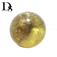 50-60mm Natural Yellow Crystal Ball Citrine Sphere Chakra Clear Quartz Minerals Healing For Massage Gifts Fengshui Decoration