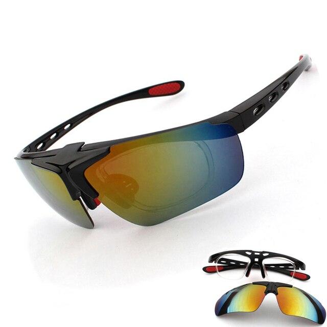 f32360fede Clip-on Lens Myopia Frame Cycling Eyewear Sports Cycle Glasses Men Women MTB  UV400 Bike