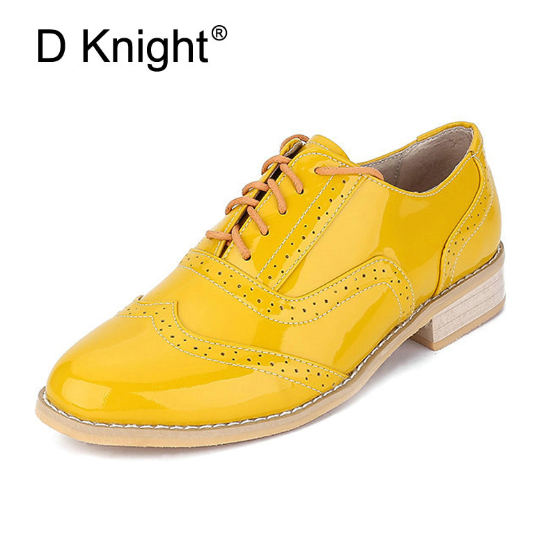 Women Flats Genuine Leather Brogue Shoes Women Causal Shoes Handmade Retro Style Oxfords 2018 New Spring Fashion Sneakers Woman qmn women crystal embellished natural suede brogue shoes women square toe platform oxfords shoes woman genuine leather flats page 1