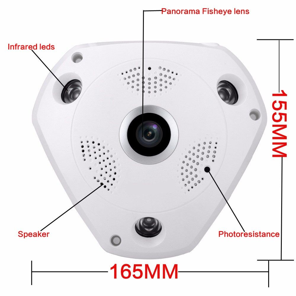 ФОТО HD 360 Degree Panorama CCTV IP Camera Remote Control Security Night Vision Wireless Wifi Camera P2P Network SD Surveillan Camera
