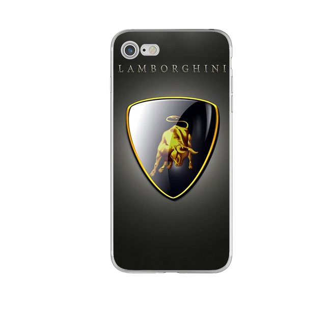 Soft TPU Ultra Slim Silicone Phone Cases for Porsche Lamborghini Audi Maserati Car Logos for iphone 6 6s 7 5 5s se 6splus 7plus