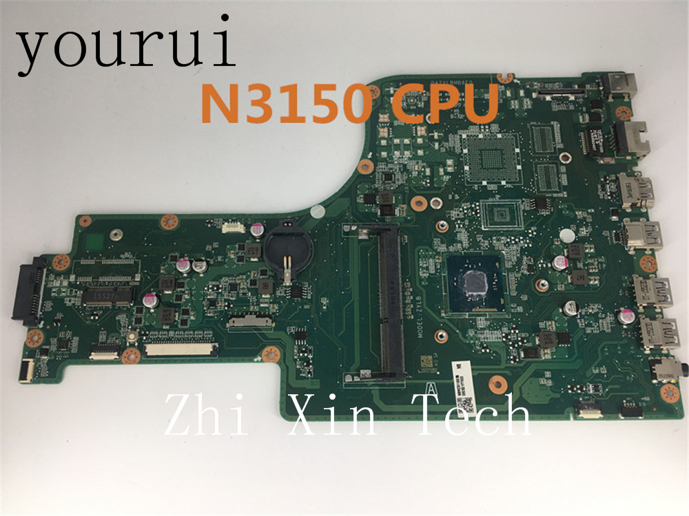 yourui For Acer Aspire ES1-731 Laptop Motherboard With 3150 CPU  DAZYLBMB6E0 100% Tested Working