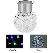 LED Solar Lamp Hang Ball Solar Light Outdoor Color Change LED Solar Lights Lamp For Garden Decoration Walkway Lighting(China)