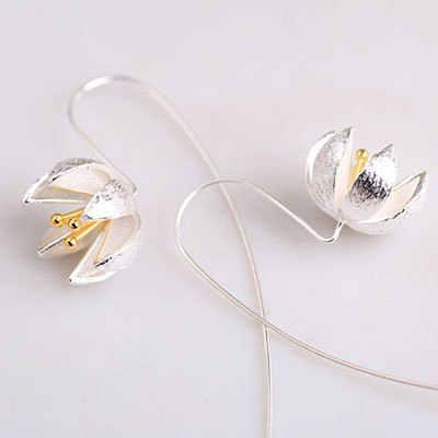 2017 nouveautés 925 boucles d'oreilles longues en argent Sterling pour femmes bijoux fantaisie en argent sterling-bijoux pendientes