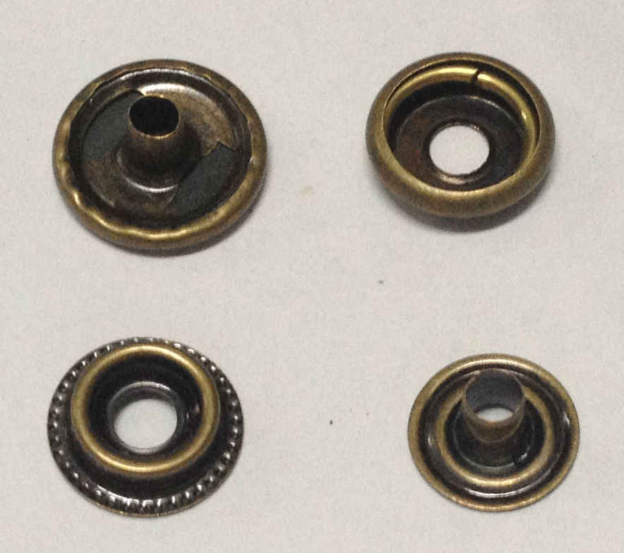 100 set Logam Tombol Snap Pengencang Tekan Studs Tombol Manual Instalasi Alat 201 Tombol 15mm Partai Besar