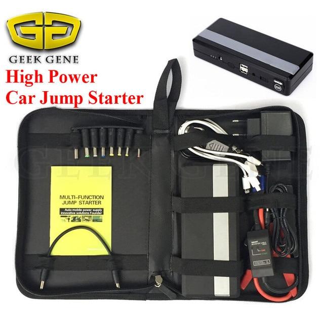 car jump starter power bank 12v emergency car battery booster Multi-function car starter US plugs 2USB power bank SOS