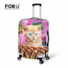 Tier Hund Druck Koffer Abdeckung Anti-Scratch Gepäck Abdeckungen für 18-30 Trolley Koffer Wasserdicht Spandex Reisetasche zubehör