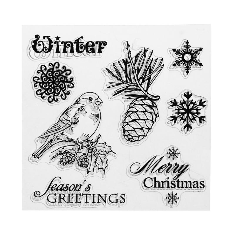 Parrot/Pineapple/Snowflake Clear Stamps For Scrapbooking Rubber Stamps for card making DIY Craft Stamps-for-scrapbooking details about east of india rubber stamps christmas weddings gift tags special occasions craft