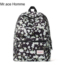 Mr. ace homme женские рюкзаки с цветочным принтом из искусственной кожи Сумка 2017 Женский модный дизайнер школьные сумки для девочек-подростков Mochilas