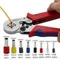 Yalku 0.25-10mm2 pince à sertir auto-ajustable avec connecteur à sertir à borne 1200 fil outil à sertir à borne tubulaire outil à main