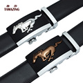 TAMAZING Men's Cowhide Leather Fat Horse Buckle Designer Belts Men High Quality