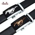 TAMAZING hombres Grasa Caballo de Cuero de Vaca Hebilla de Cinturones de Diseñador Hombres de Alta Calidad