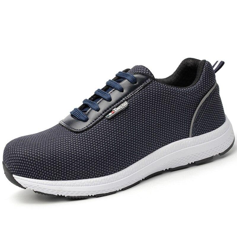 Livraison rapide Hommes Acier Orteil Chaussures de Sécurité de Travail Léger Réfléchissant Respirant baskets décontractées 6KV chaussures de sécurité isolées 36-46