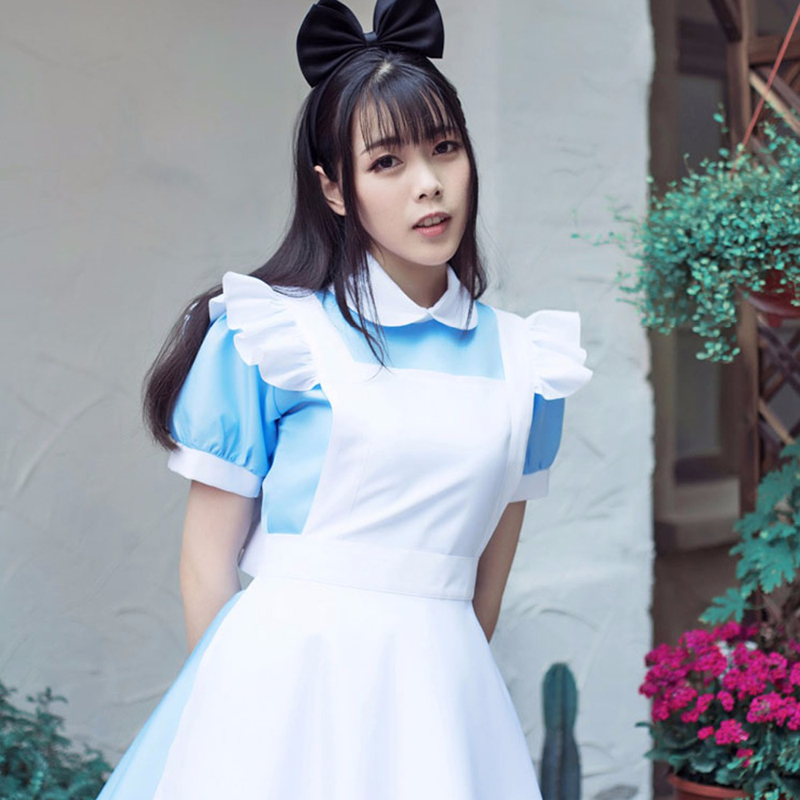 Alice In Wonderland Party Cosplay Costume Anime Sissy Maid Uniform Sweet Lolita Dress Halloween Costumes For Women