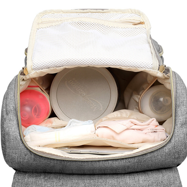Fashion Large Capacity Baby Nappy Bag Diaper Bag Purse Multifunction USB Mummy Travel Backpack Women Nursing Bags For Mom Daddy 4