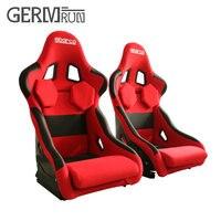 2 Pcs/Set High quality Racing Bucket Seat Black Carbon fiber Red Sport Racing Car Seat