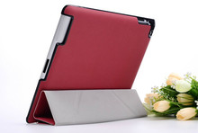 4 Shapes Stand Design Magnetic Leather  for apple ipad 4 ipad 3 ipad 2 Case