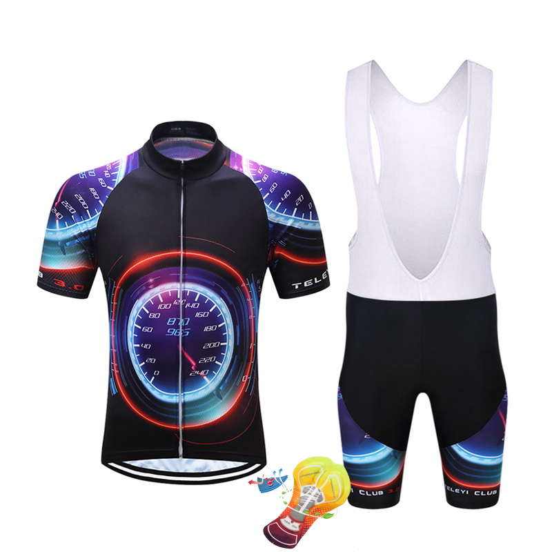 2018 TELEYI Quick Dry Cycling Jersey GEL Pad Brand Pro Team Short Sleeve Cycling Jersey Maillot Ropa Ciclismo Cycling Clothing