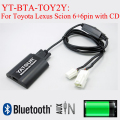 Yatour YT-BTA car radio Bluetooth MP3 Hands free interfaces for Toyota Lexus Scion 6+6PIN with existed CD