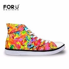 FORUDESIGNS Vulcanize Shoes for Men Classic High Top Men's Casual Sneakers Canvas Flats Student Comfortable Shoes Zapatos Hombre