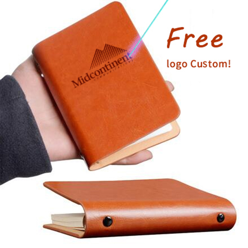Paperboat Mini A7 Notebook Logo Custom Memo Pad Pocket Rings Planner Spiral Binder Loose Leaf Diary Travelers School Supplies