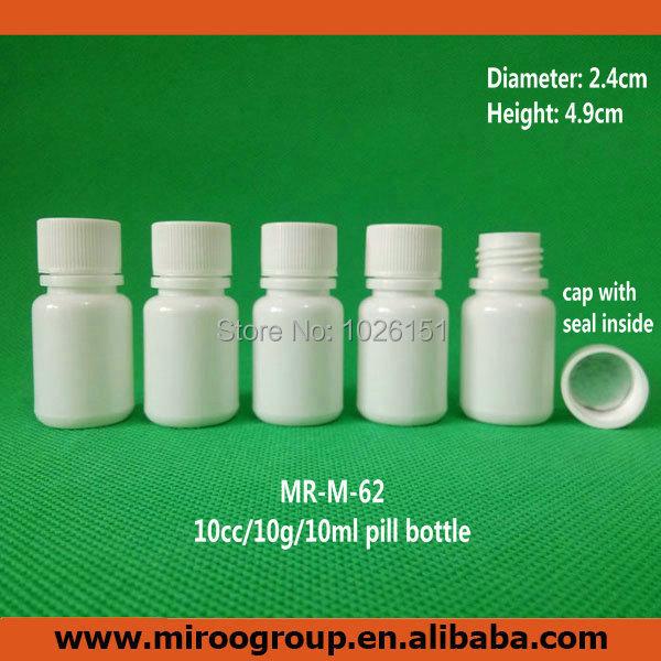 Free Shipping 100 2pcs 10ml 10g 10cc Hdpe White Small