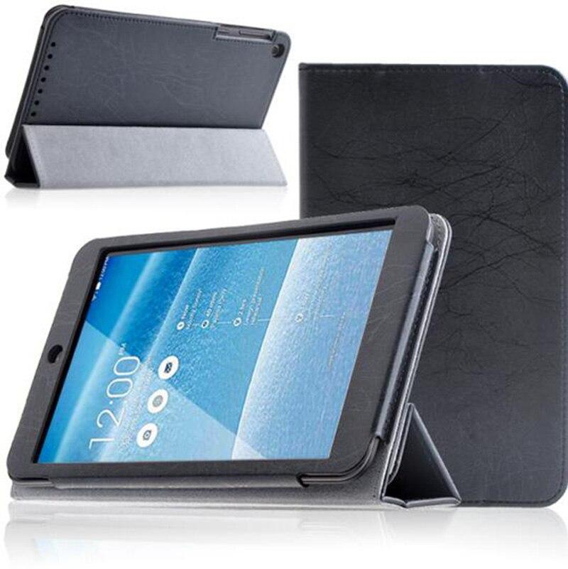 Enzi 10 stks/partij Folio Stand PU Flip Smart Leather Case Cover Voor ASUS MeMO Pad 8 ME181C ME181 8
