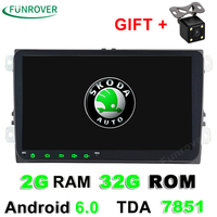 Android 6 0 1024 600 Car Multimedia DVD Headunit Player For VW GOLF 5 6 Polo