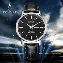 RONMAR New Luxury Men Leather Watches RM8007G Business Men's Watch Role Luxury Watch Men Quartz Wristwatch Relogio Masculino