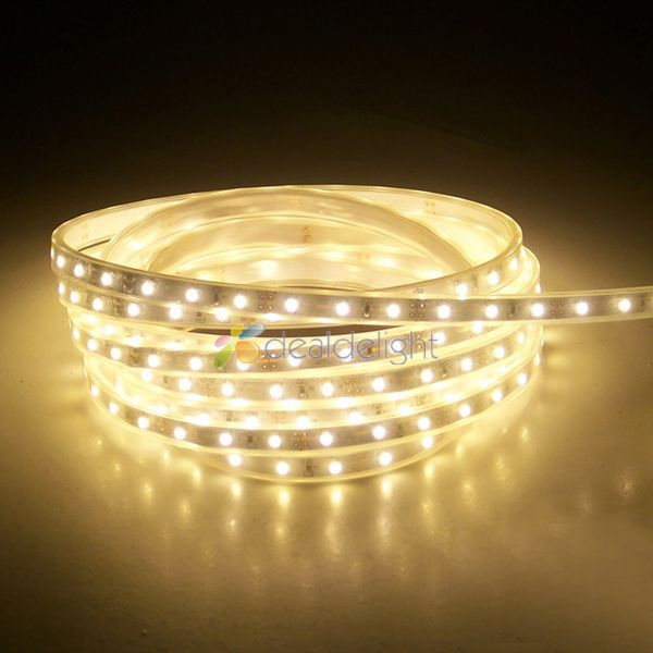 5M 5050 SMD 60LED / M 300LEDs IP66 Siliconen Buis Waterdicht Warm Wit - LED-Verlichting