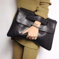 Vintage women's envelope Bag day clutch leather handbags Female Evening bag wristlets bags for women messenger bags Purse bolsas