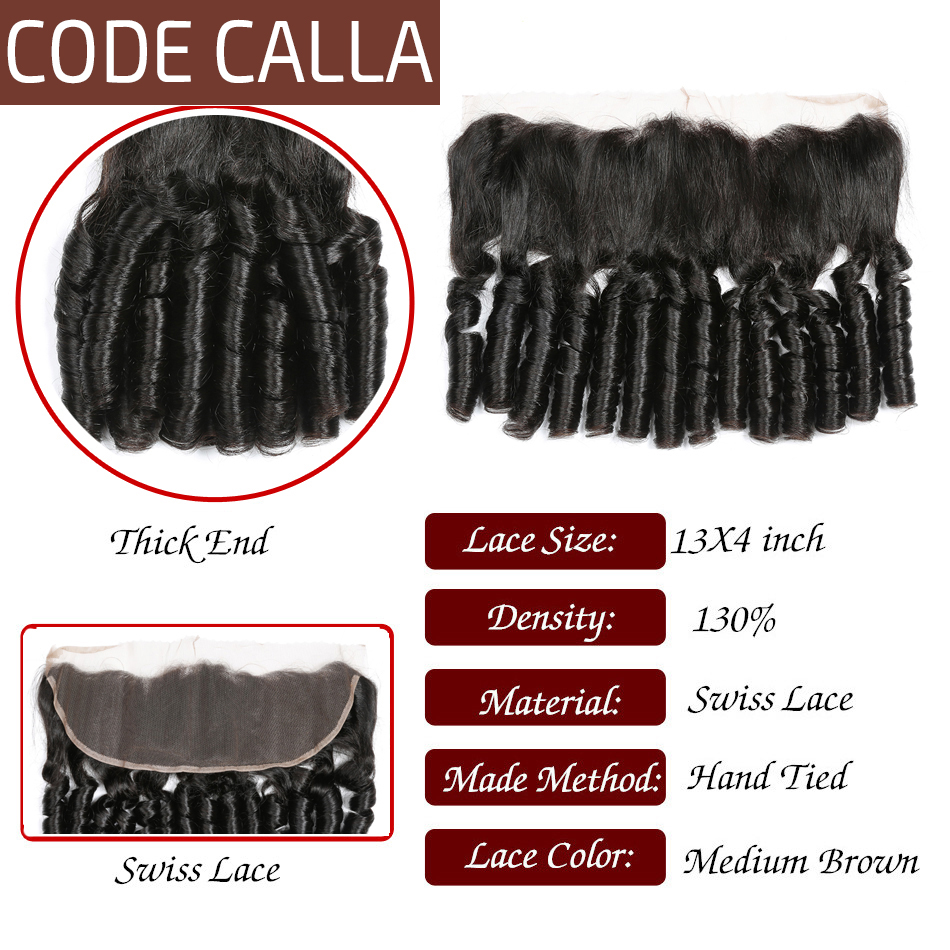 Salon Hair Supply Chain Code Calla Ombre Color Bouncy Curly Bundles With 13*4 Lace Frontal Free Part Brazilian Raw Virgin 100% Unprocessed Human Hair Salon Bundle Pack