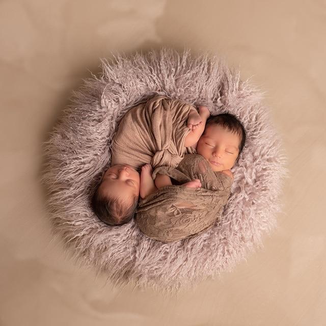 d59a92aa05de Miglior prezzo D   J Bambino Rotondo Coperta Photography Faux Fur ...