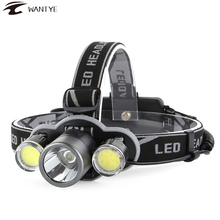 Rechargerable LED Headlight 10000LM XML T6+COB Headlamp Flashlight Forehead 5 Mode 18650 Head lamp Camping Hunting Lantern sitemap 19 xml