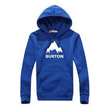 2016 New Arrived Spring Autumn Winter Mens Pullovers Sweatshirt BURTON Printed Hoodie Men High Quality Hoodies Men Clothing