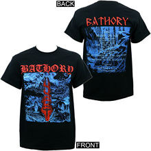 лучшая цена Authentic BATHORY Blood on Ice Album Cover Art 1996 Black Metal T-Shirt S-3XL NEW Cotton Low Price Top Tee for Teen Boys T Shirt