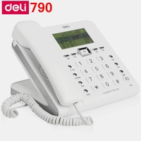[ReadStar]Deli 790 corded telephone home office telephone alarm caller ID display records date time display