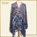 Горячая новинка пашмины кашемира женщин шарфы пейсли цветок стиль украл обруч шали лето зима весна шарф для леди