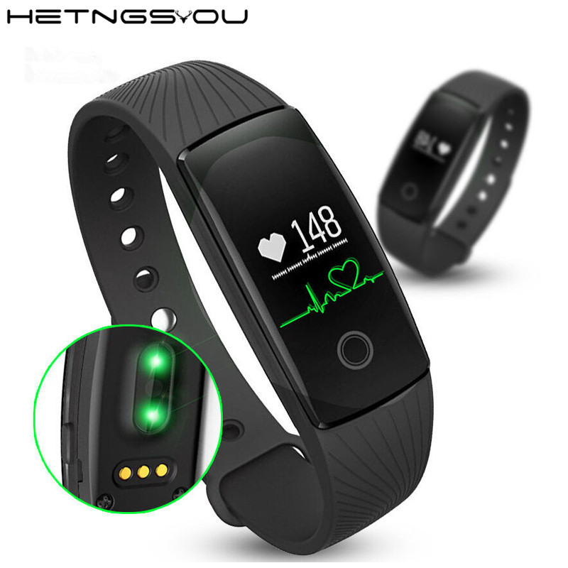 ID107 Smart Fitness Bracelet Heart Rate Monitor Smart Band Activity Tracker Wristband for iOS Android pk