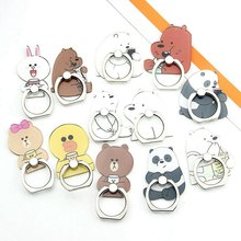Mobile Phone Stand Holder Cartoon Beauty Lady Finger Ring Smartphone Cute  Animal Bear Panda Holder Stand 3f3a5c4c2bac