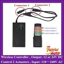 AC100-240V Вход и 12/24V DC Выход Беспроводной Тип линейный контроллер привода/Питание для игры в паре с линейным приводом