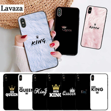 Lavaza Queen & King Couple Novelty Fundas Silicone Case for iPhone 5 5S 6 6S Plus 7 8 11 Pro X XS Max XR lavaza cartoon mickey mouse couple silicone case for iphone 5 5s 6 6s plus 7 8 11 pro x xs max xr