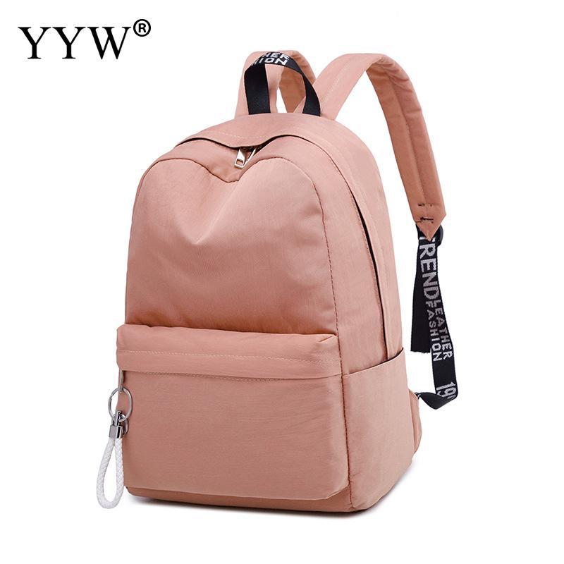 Mochila Backpack School-Bag Waterproof Women Teenager Large-Capacity Fashion Dos Ribbons