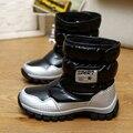 Zapatos de las muchachas 2016 Nuevos Niños Zapatos de Invierno Botas de Nieve de Alta calidad de Invierno Niño Femenino Botas de Nieve Impermeables para Niñas Caliente felpa
