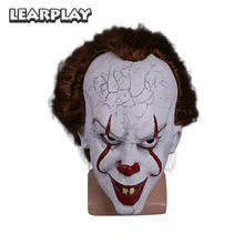 купить Stephen King's It Pennywise Halloween Mask  Clown Joker Cosplay Masks Costume Accessories Horrible Props Face Cover ZB000182 дешево
