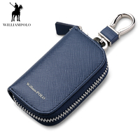 Williampolo 2018プロモーション高品質ファッション高級レザーキーホルダー用カー財布POLO176111