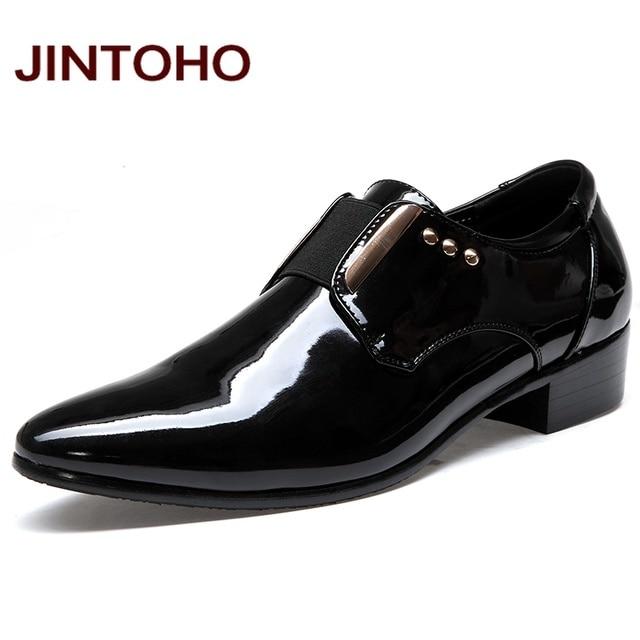 Hommes Chaussures PU Printemps Automne Plat Mocassins Chaussures Formelles Bout Pointu Robe de Soirée de Mariage Noir, Argent, Or (Color : Black, Taille : 43)