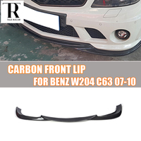 W204 C63 Carbon Fiber Front Lip for Benz W204 C63 AMG 2007 2011 Auto Racing Car Styling Front Lip Spoiler