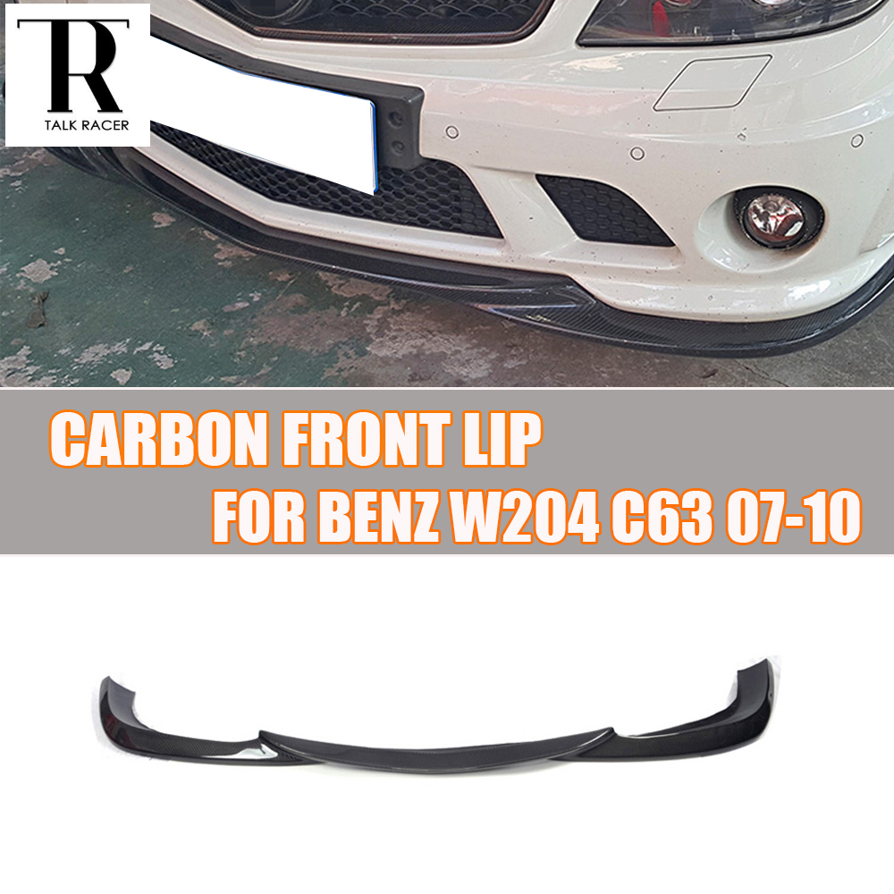 <font><b>W204</b></font> C63 Carbon Fiber <font><b>Front</b></font> <font><b>Lip</b></font> for <font><b>Benz</b></font> <font><b>W204</b></font> C63 AMG 2007 - 2011 Auto Racing Car Styling <font><b>Front</b></font> <font><b>Lip</b></font> Spoiler image
